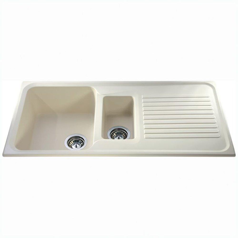 CDA Asterite 1 5 Bowl Granite Ivory Kitchen Sink AS2IV