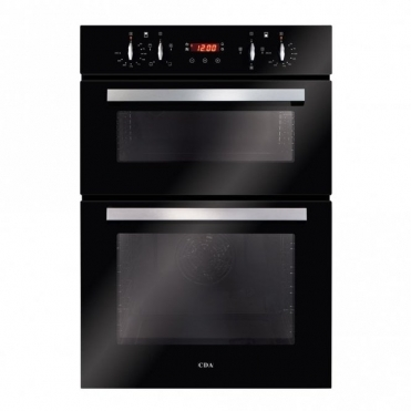 CDA Built-in Double Oven, Aa Rated, Touch Control Timer, Black DC940BL