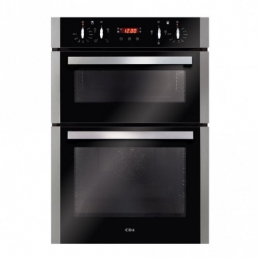 CDA Built-in Double Oven, Aa Rated, Touch Control Timer, Stainless Steel DC940SS