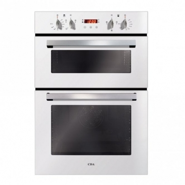 CDA Built-in Double Oven, Aa Rated, Touch Control Timer, White DC940WH