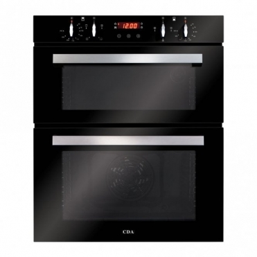 CDA Built-under Double Oven, Aa Rated, Touch Control Timer, Black DC740BL