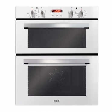 CDA Built-under Double Oven, Aa Rated, Touch Control Timer, White DC740WH