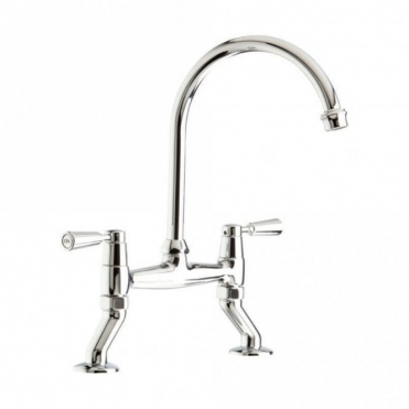 CDA Dual Lever Chrome Kitchen Sink Tap TT56CH
