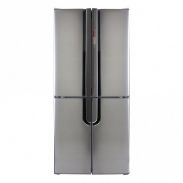 CDA Freestanding Four Door Fridge Freezer Silver A+ Rated External Display PC88SS
