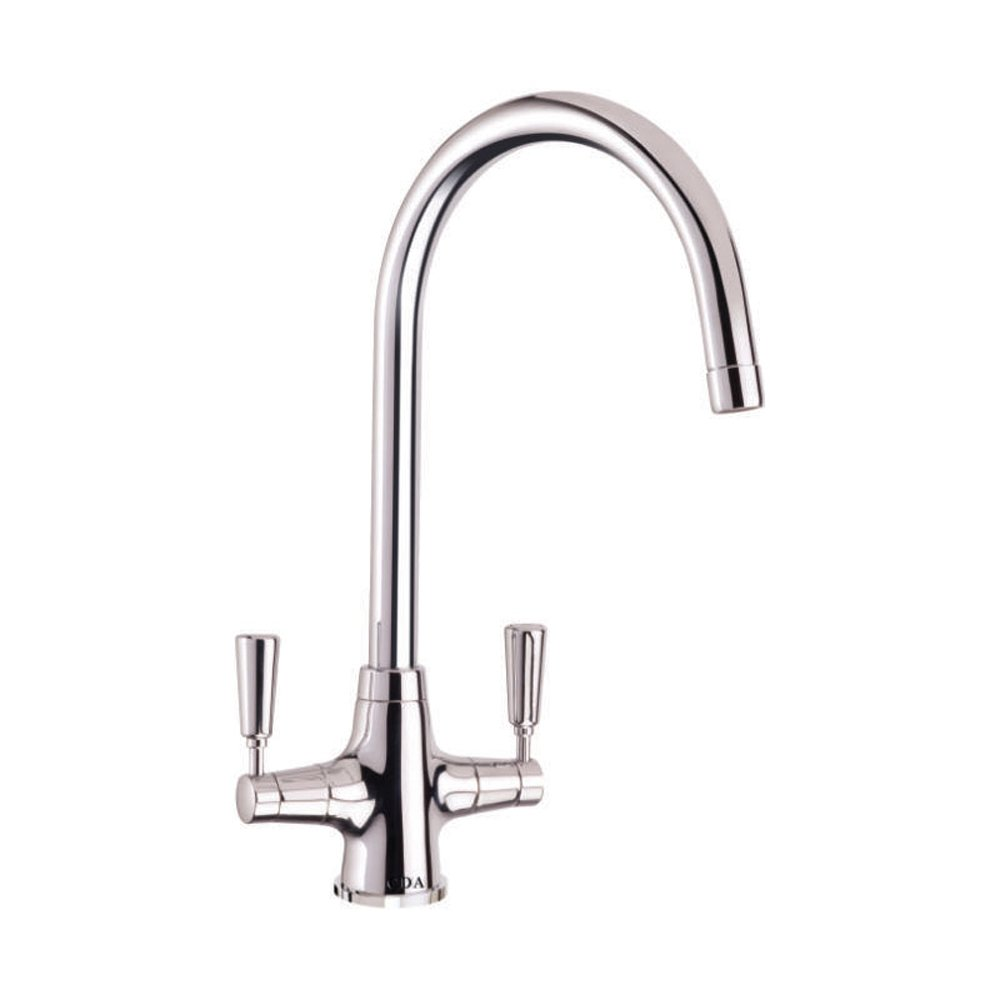 cda monobloc dual lever chrome kitchen sink tap tt41ch - Kitchen Sink Tap