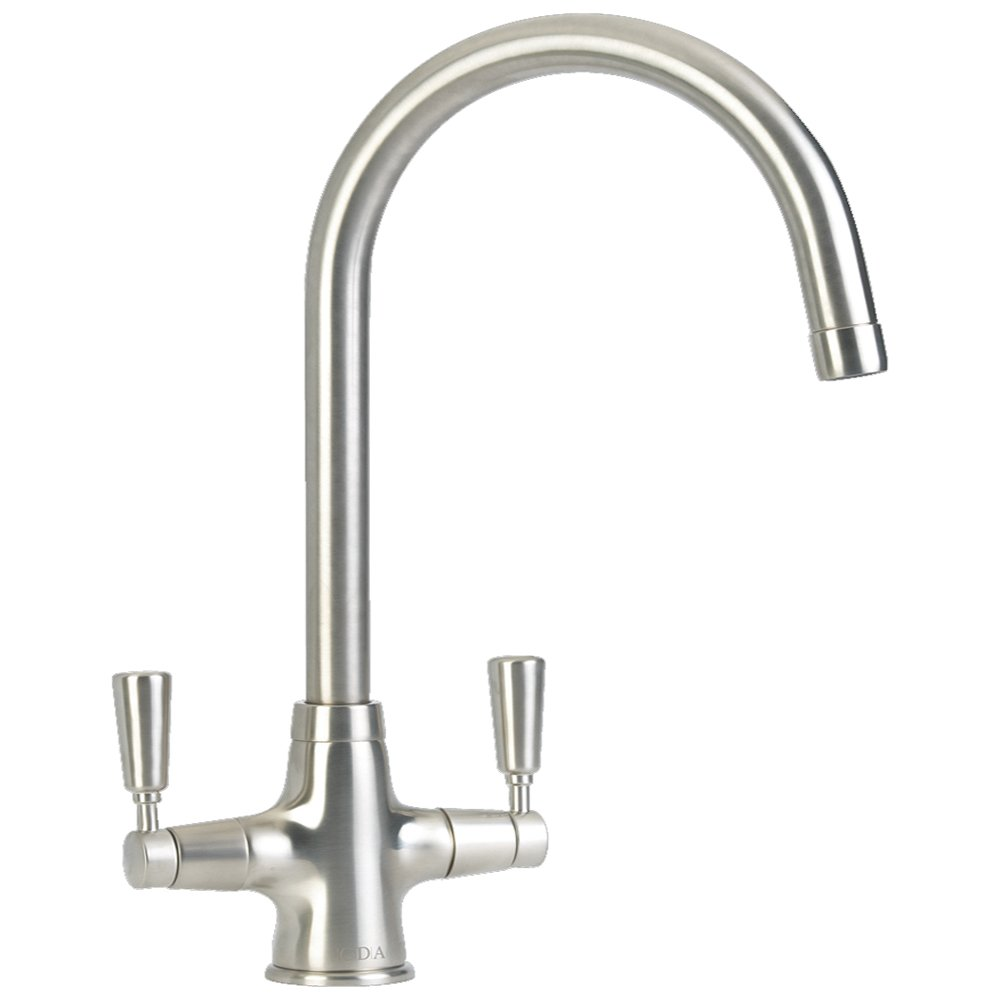 CDA Monobloc Dual Lever Nickel Kitchen Sink Tap TT41NI