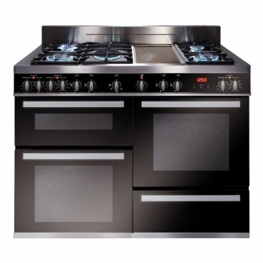 CDA Range Ckr 120 Bba Rated Electric Ovens Dual Fuel Hob Touch Control Clock S/steel RV1200SS