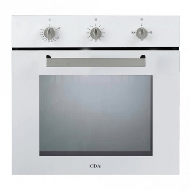 CDA Single Fanned Gas Oven White SG120WH