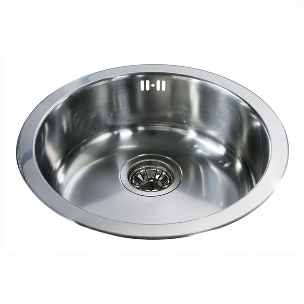 Cda Stainless Steel Round Bowl Kitchen Sink