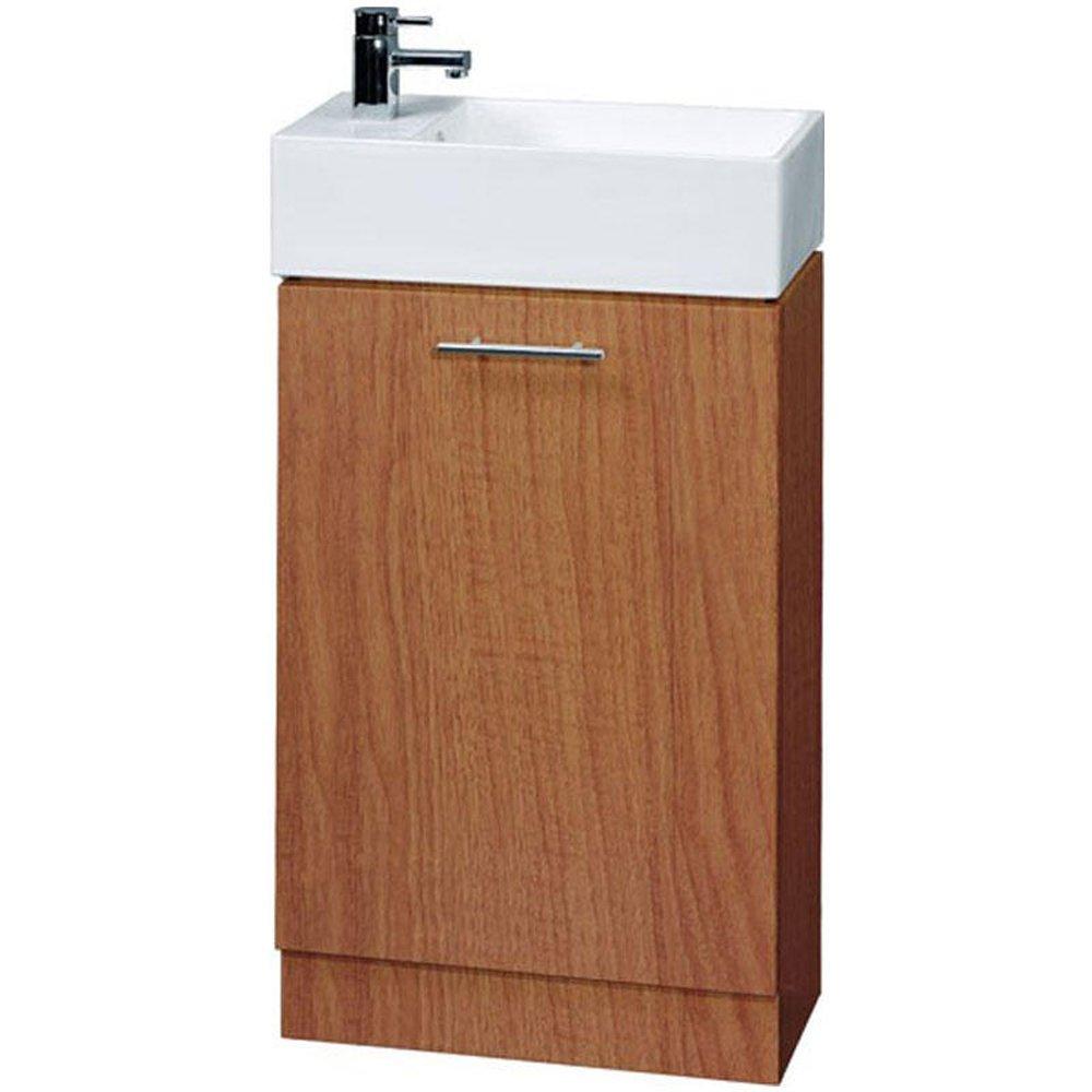 none compact calvados floor standing bathroom cabinet 1th basin