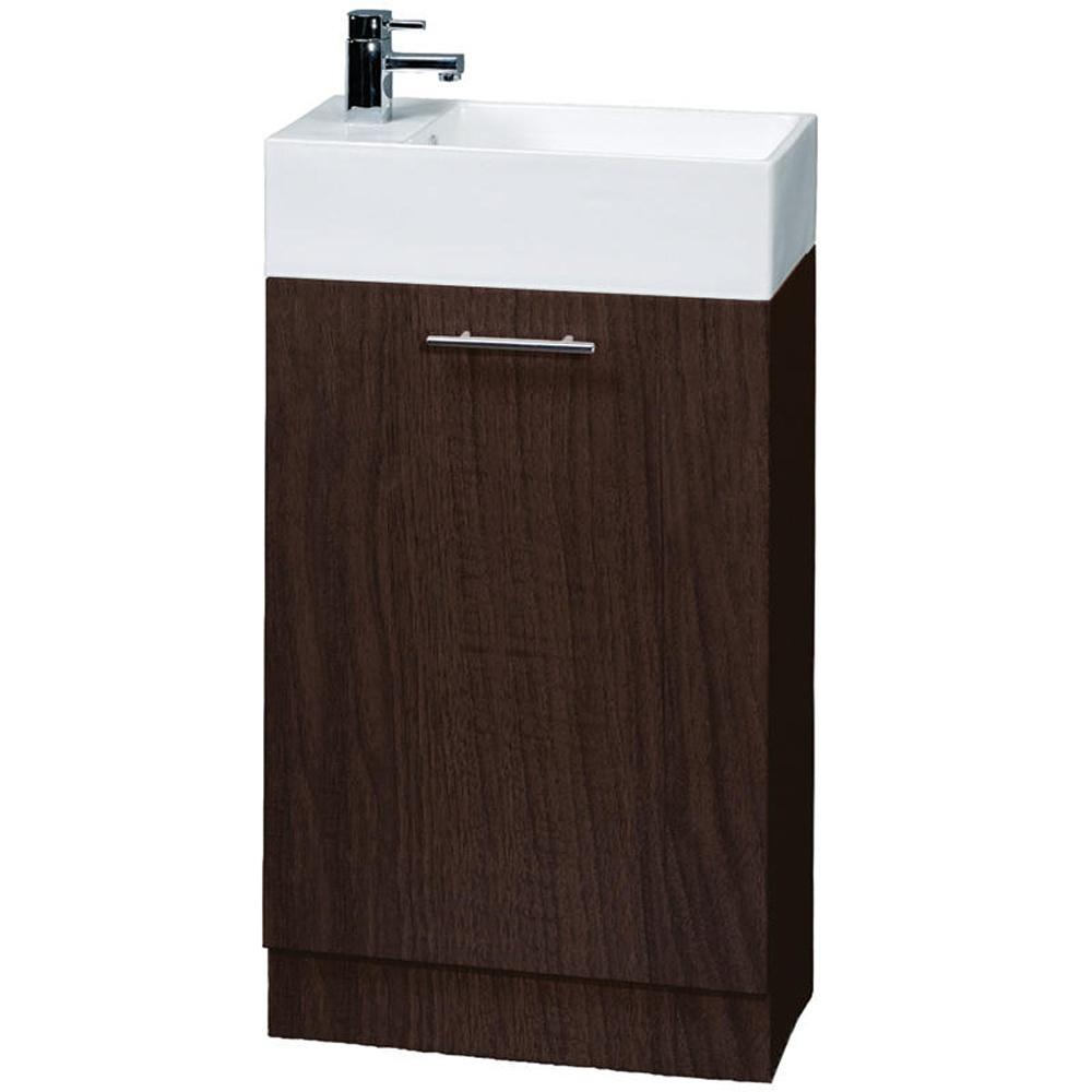compact ebony floor standing bathroom cabinet 1th basin