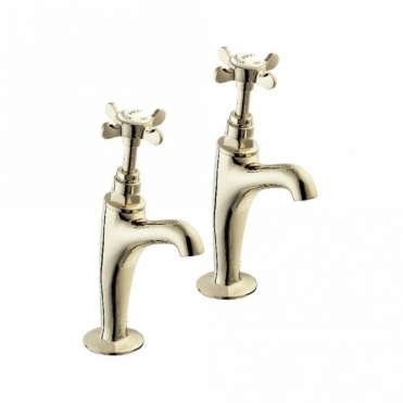 Deva Coronation Bs1010 Gold High Neck Kitchen Sink Pillar Taps CR27A-501