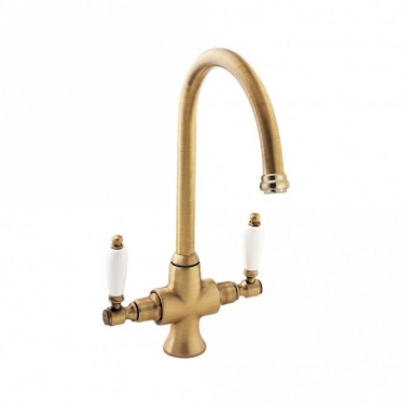 Deva Georgian Gold Twin Lever Kitchen Sink Mixer Tap SM056-501