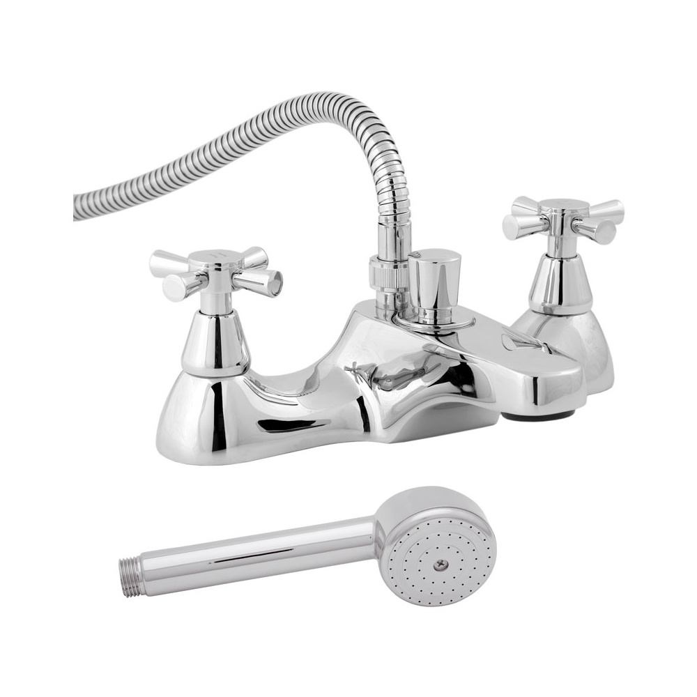 Deva Milan Chrome Deck Mounted Bath Shower Mixer Tap MILAN106. Bath Shower Mixer Taps