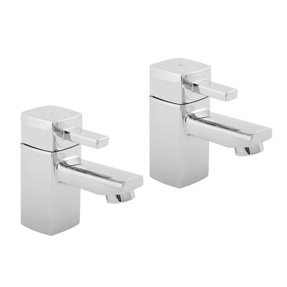 Deva Rubic Chrome Bathroom Basin Mixer Taps RUB101 Deva