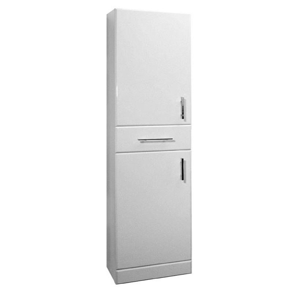 dove high gloss white 350mm x 330mm free standing 2 door tall cabinet