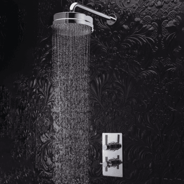 None Edessa Concealed Round Chrome Thermostatic Shower