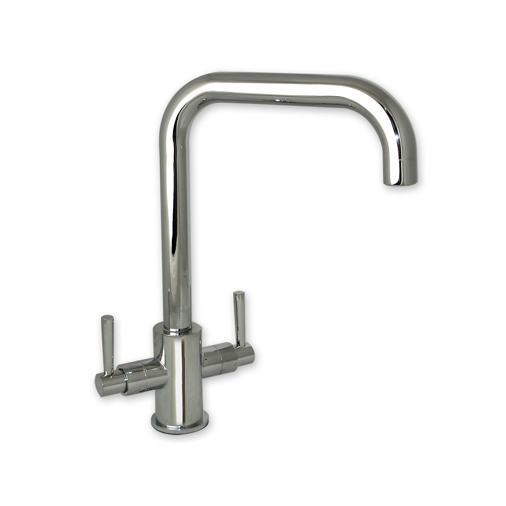 twin handle swivel spout kitchen sink mixer tap none from taps uk