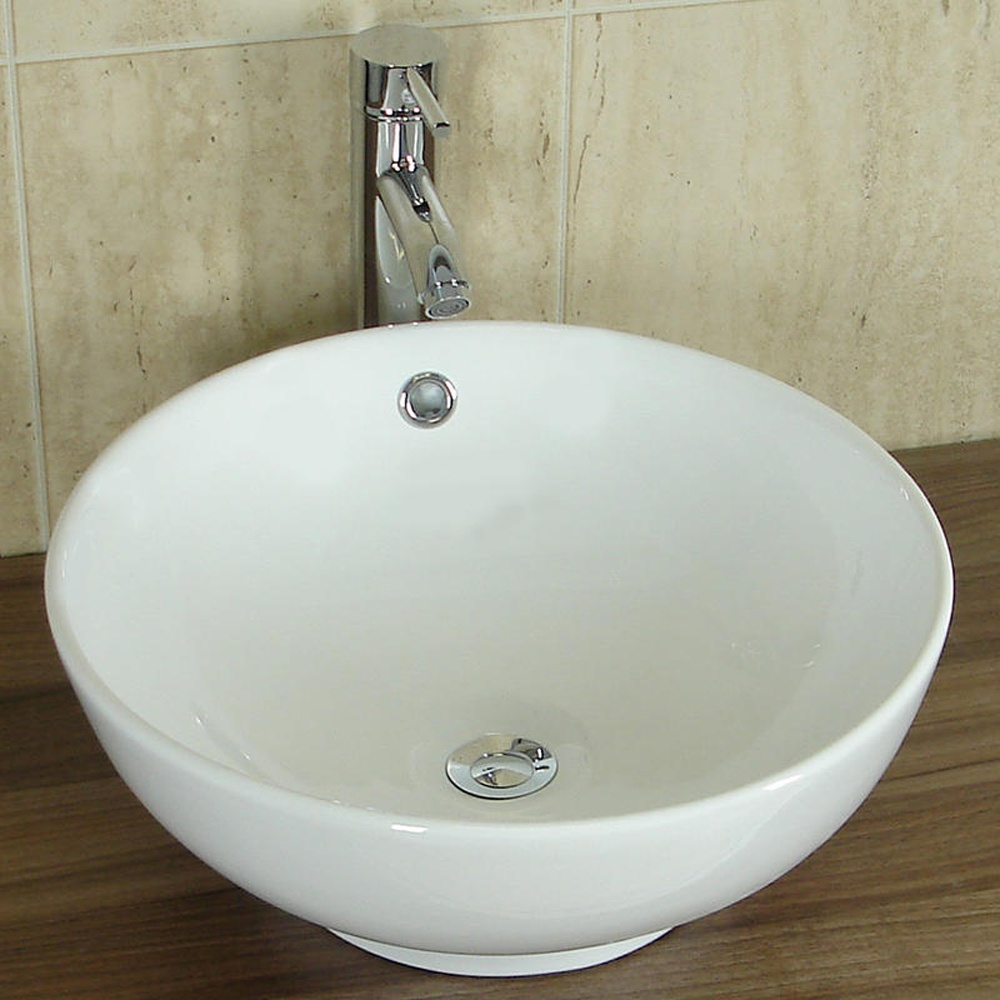 Europa Legacy 420x420 0th White Ceramic Counter Top Basin A19