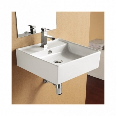 Europa Sterling 463x470 1th Ceramic Wall Hung Basin 4032A