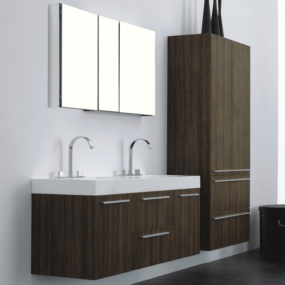 Europa Venice Walnut Bathroom Vanity Basin Unit Storage