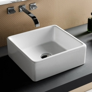 Europa Via 0TH White Ceramic Counter Top Basin A57