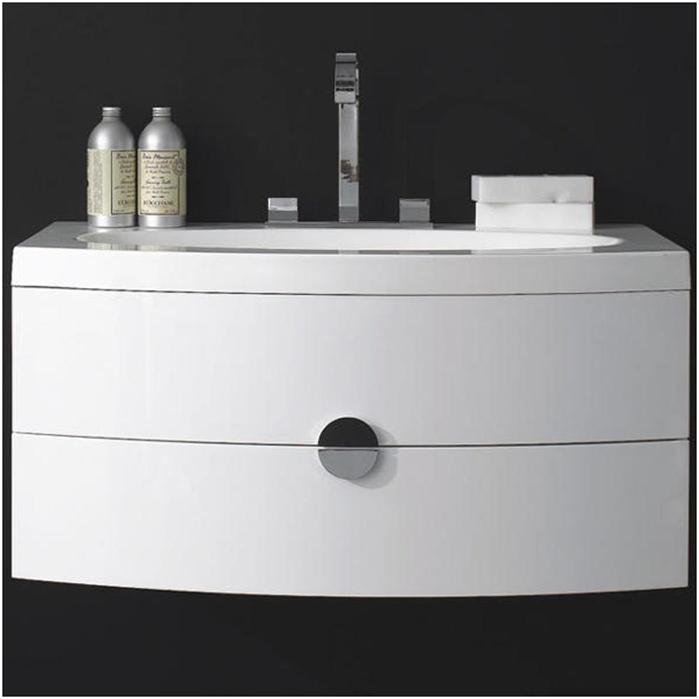 ... › Europa Vienna White Bathroom Vanity Basin Unit & 3TH Basin T920