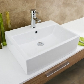 Europa Zeus 1TH White Ceramic Counter Top Basin A58