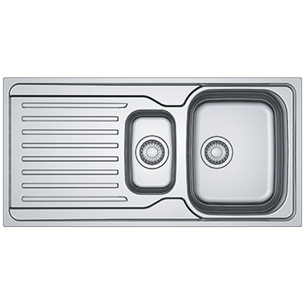 Franke Antea 1 5 Bowl Polished Stainless Steel Kitchen Sink Waste Azn651 Kitchen From Taps Uk