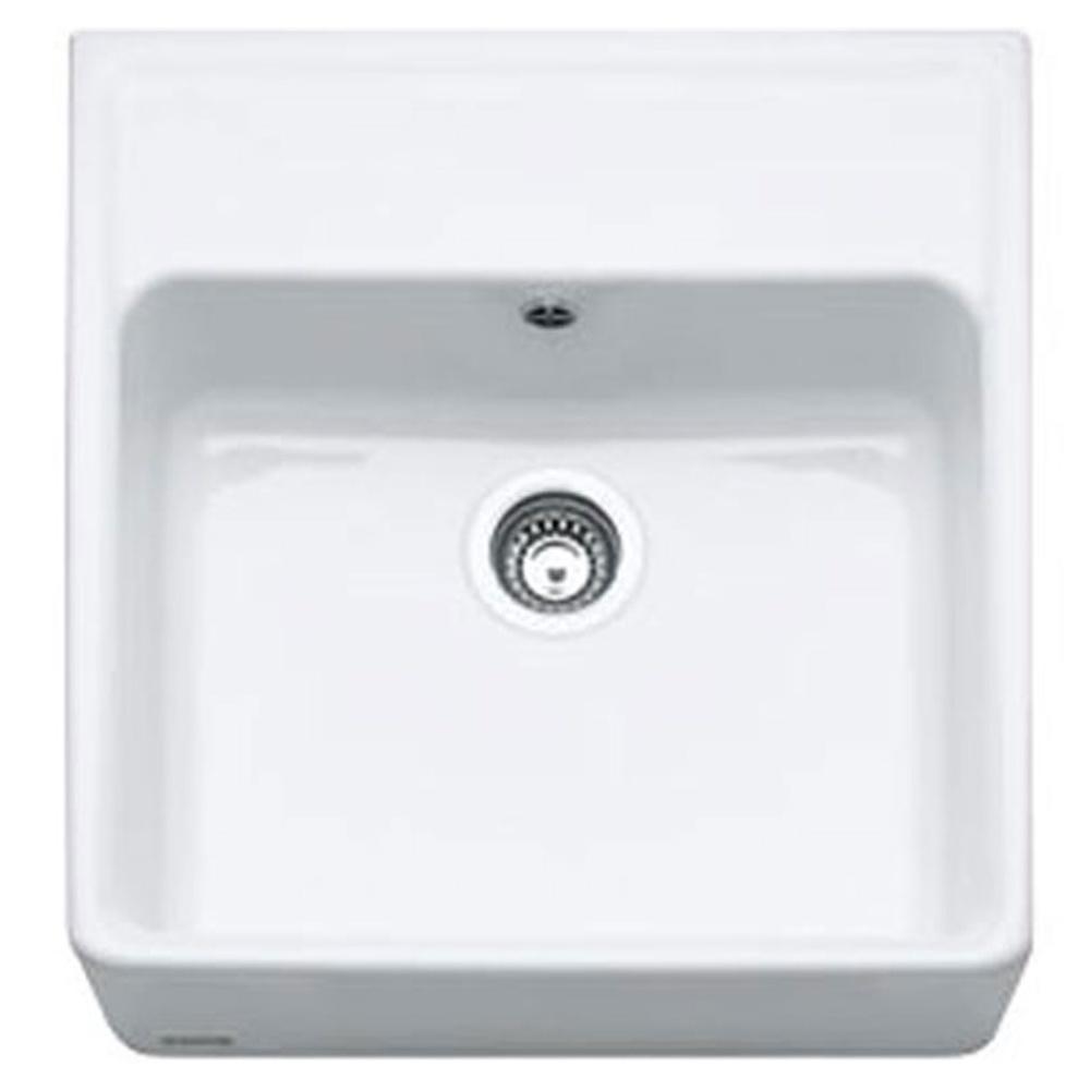 franke belfast 1 0 bowl white ceramic kitchen sink waste