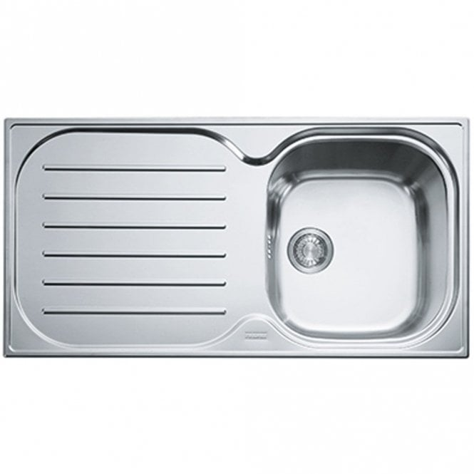 Franke Compact 1 0 Bowl Silk Stainless Steel Kitchen Sink Waste Cpxp611 965 Lhd