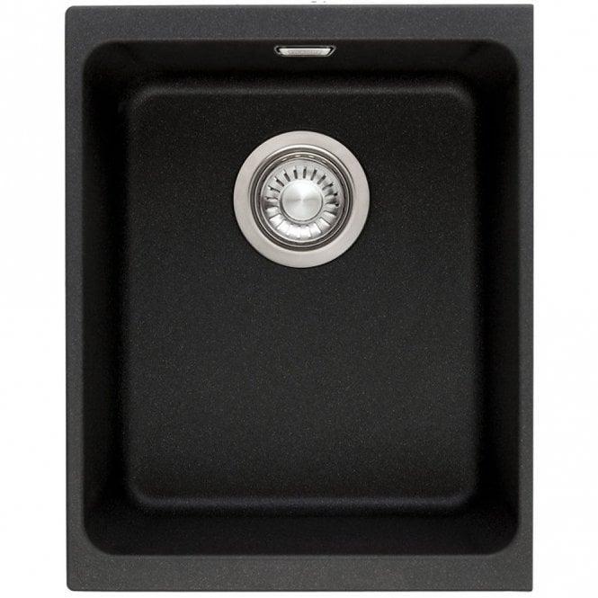 Franke Kubus 1.0 B Granite Onyx Black Undermount Kitchen Sink ...