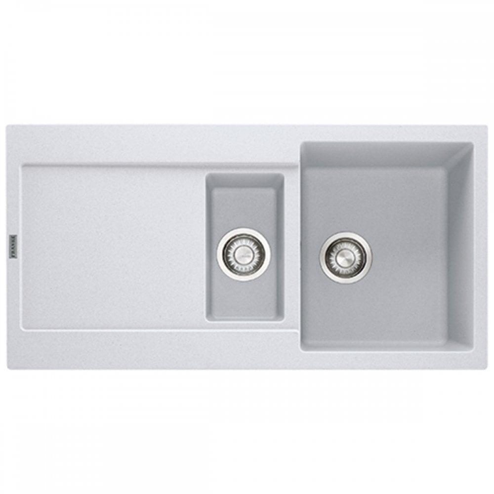 franke maris 1 5 polar white composite fragranite kitchen sink waste