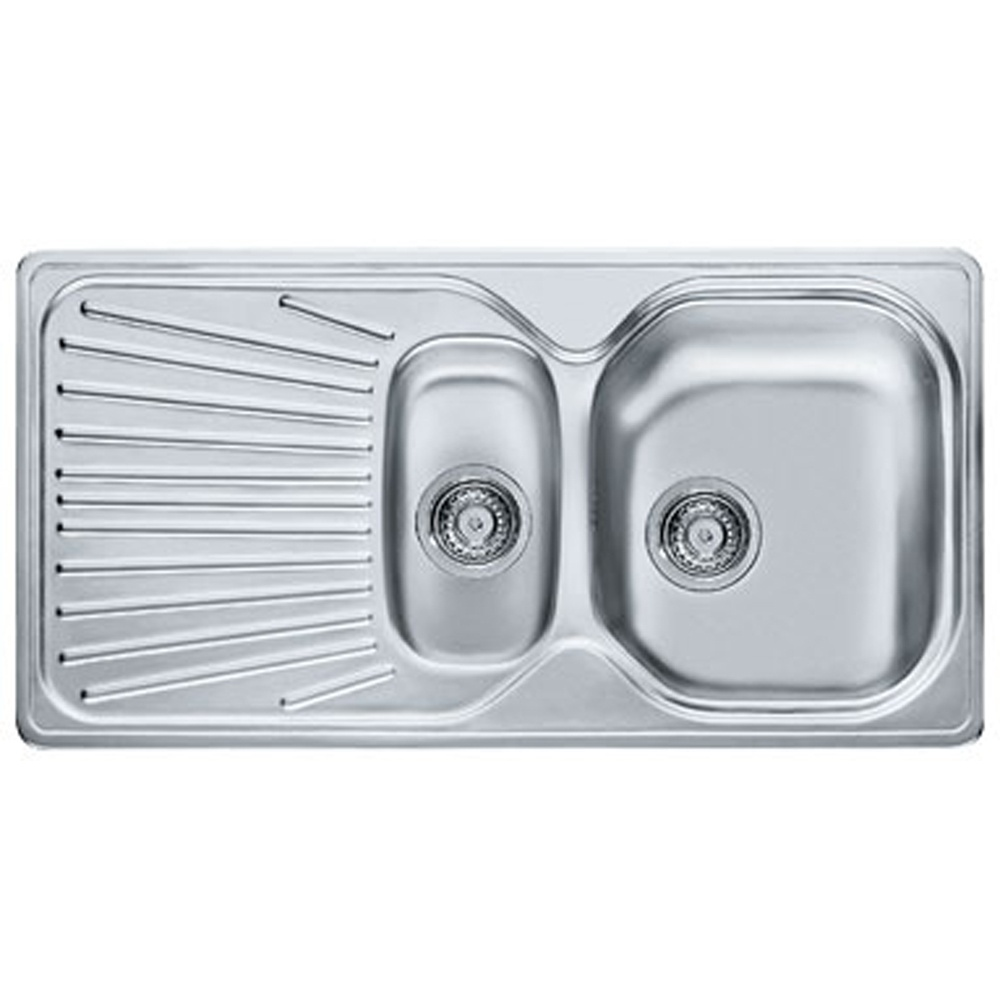 franke mikado 1 5 bowl stainless steel kitchen sink waste mon651