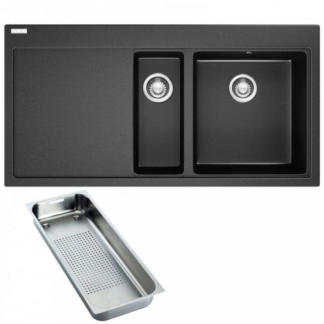 Franke Mythos 1.5 Bowl Onyx Black Granite Kitchen Sink & Waste ...