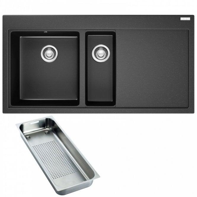 Franke Black Kitchen Sinks Franke mythos 15 bowl onyx black granite kitchen sink waste franke mythos 15 bowl onyx black granite kitchen sink waste mtg651 100 rhd workwithnaturefo