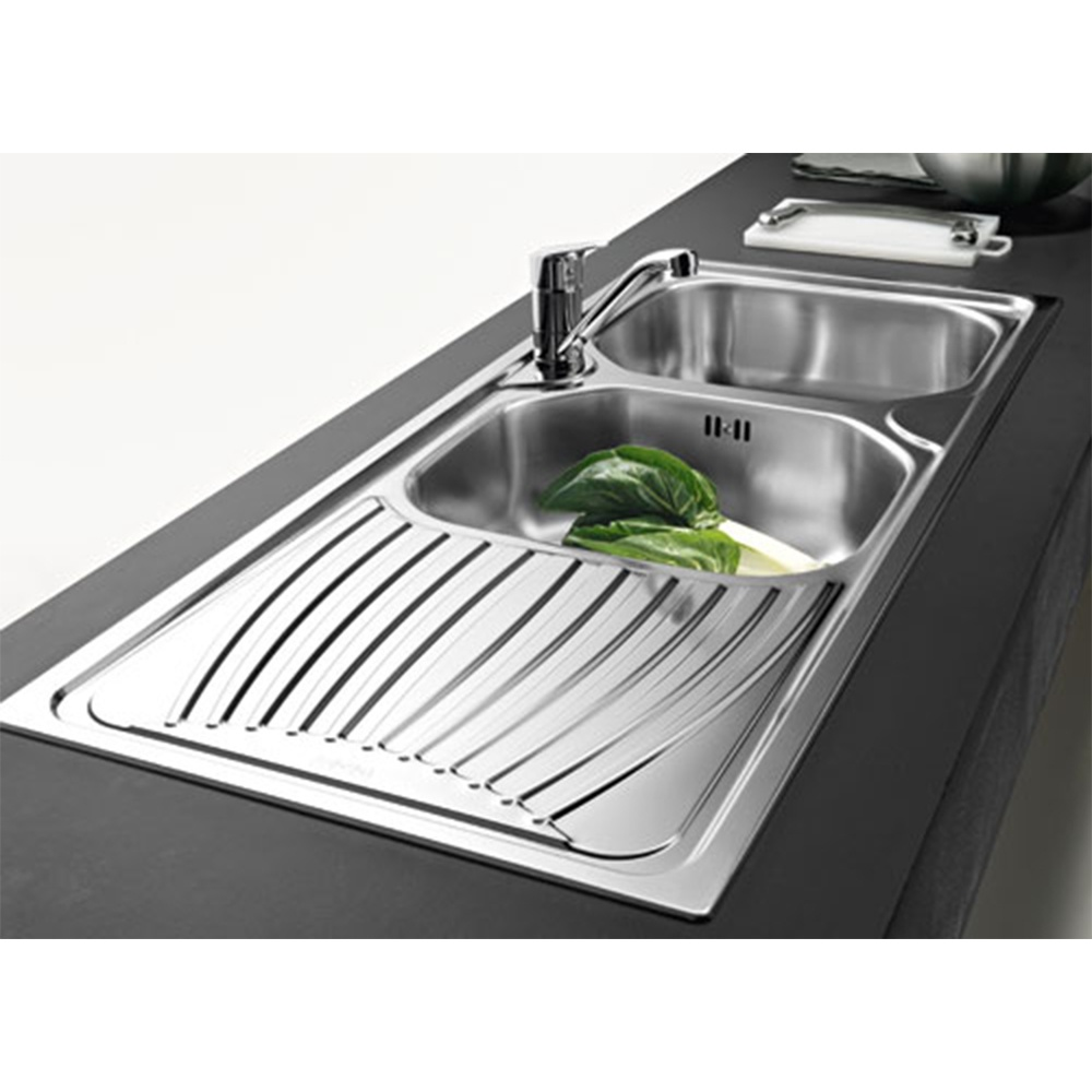 franke onda 20 bowl stainless steel kitchen sink u0026 waste onn621 - Kitchen Sinks Franke