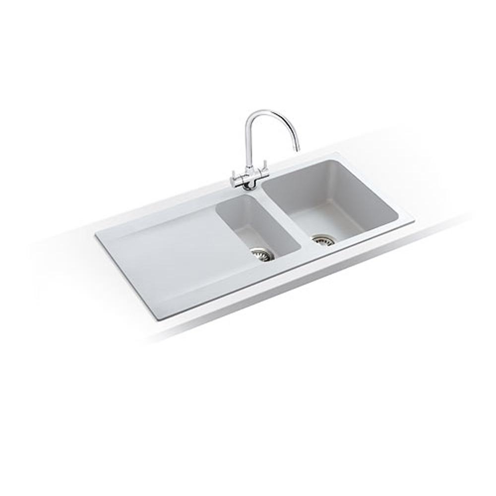 ... Franke ? Franke Orion 1.5 Bowl White Tectonite Kitchen Sink & Waste