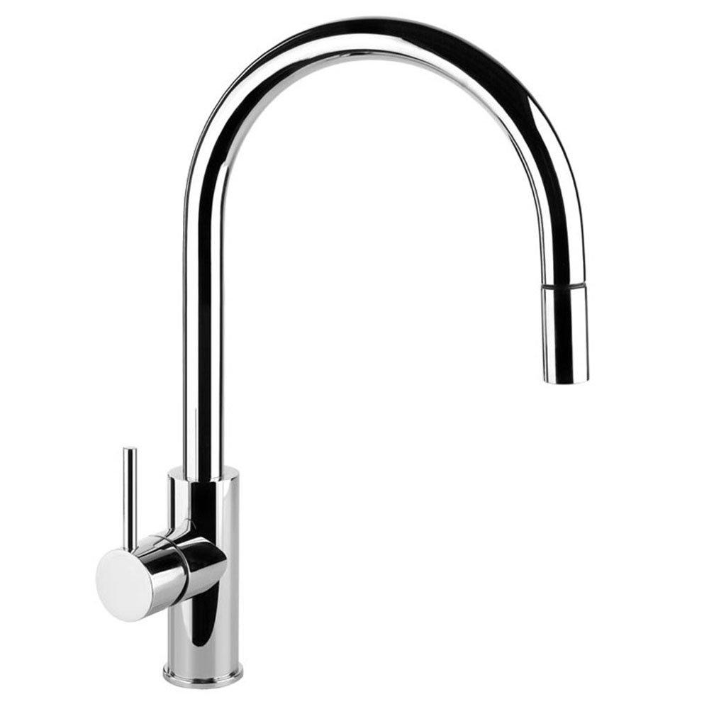 Gessi Oxygene Cucina Ht Finox Brushed Steel Kitchen Sink Tap - Kitchen sink taps uk