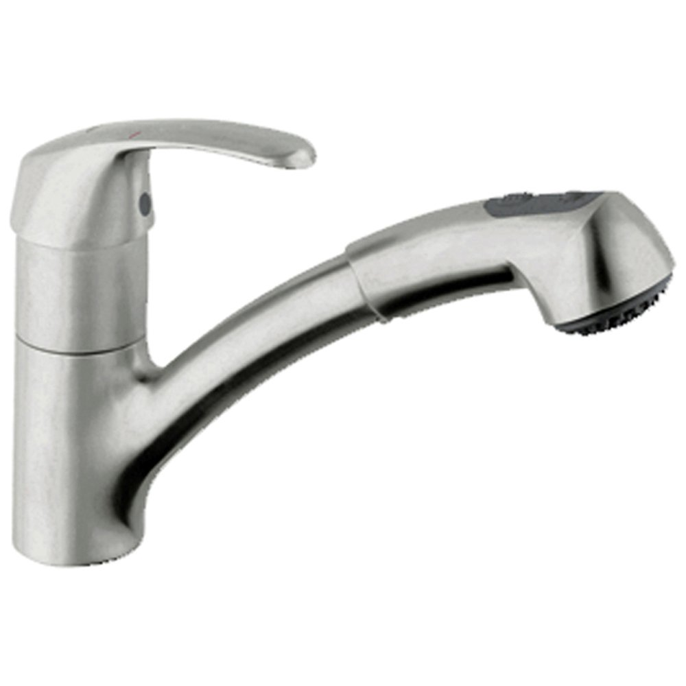 Kitchen Sink Spout : ... Alira Brushed Supersteel Pullout Spout Kitchen Sink Mixer Tap 32998SD0