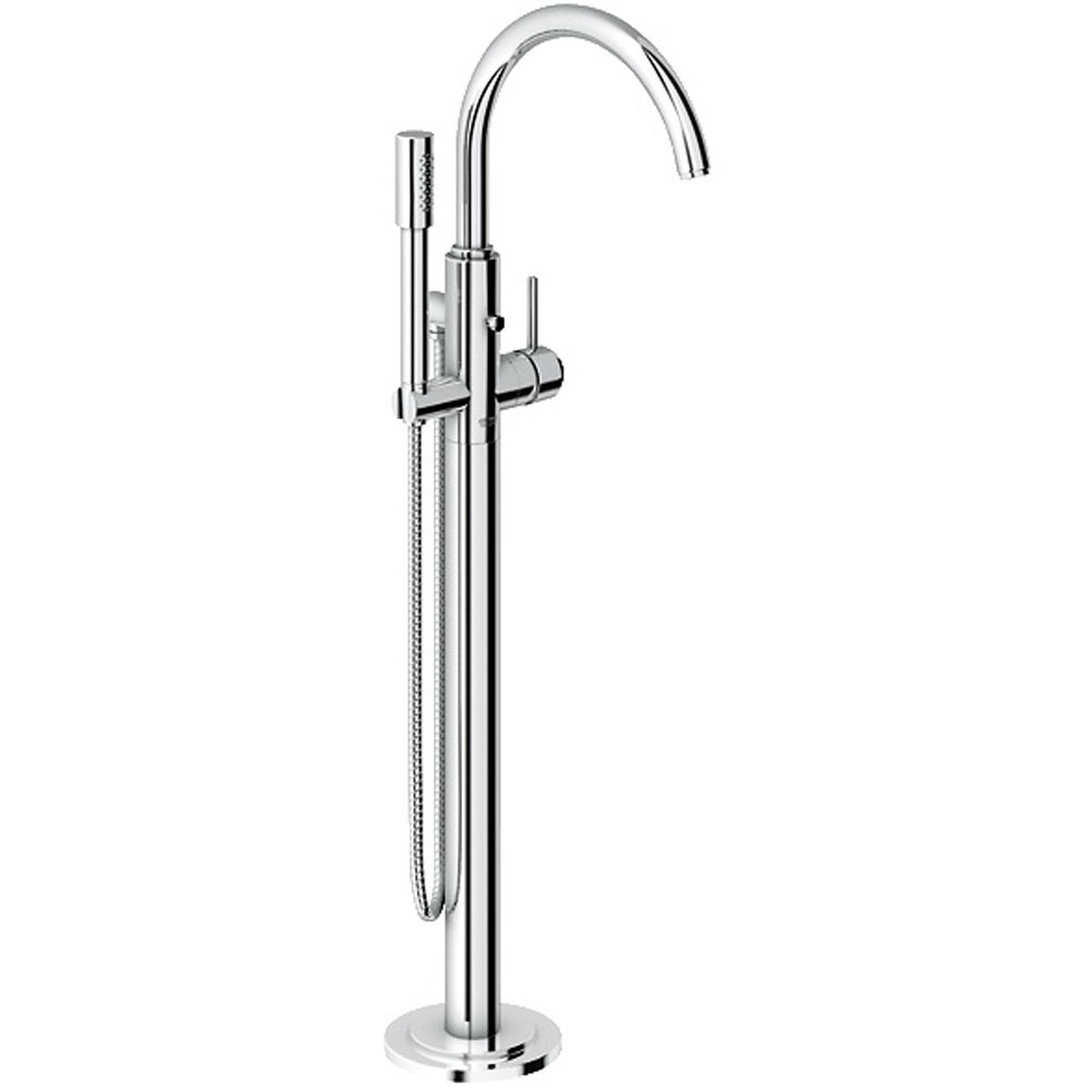 grohe atrio ohm chrome free standing bath shower mixer tap