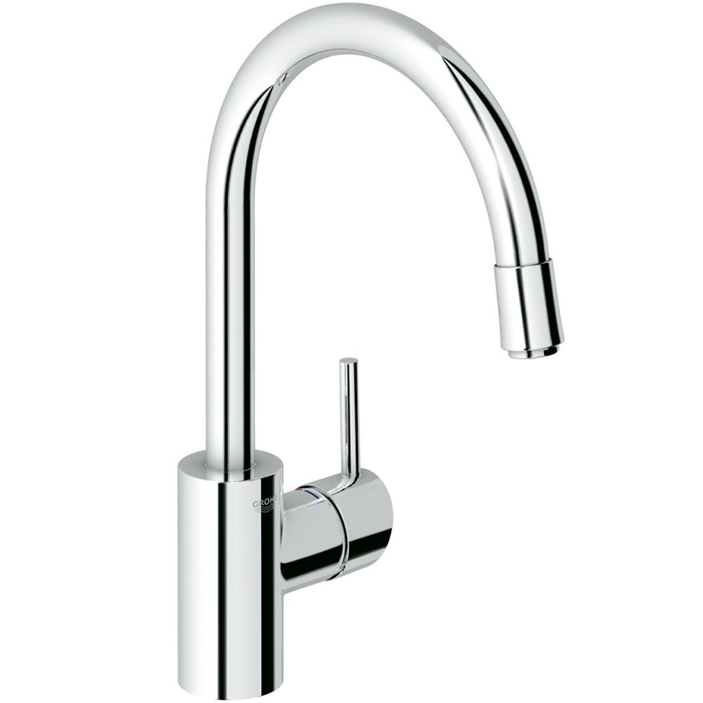 Chrome Kitchen Sink : Grohe Concetto Chrome Pullout Spout Kitchen Sink Mixer Tap 32663000 ...