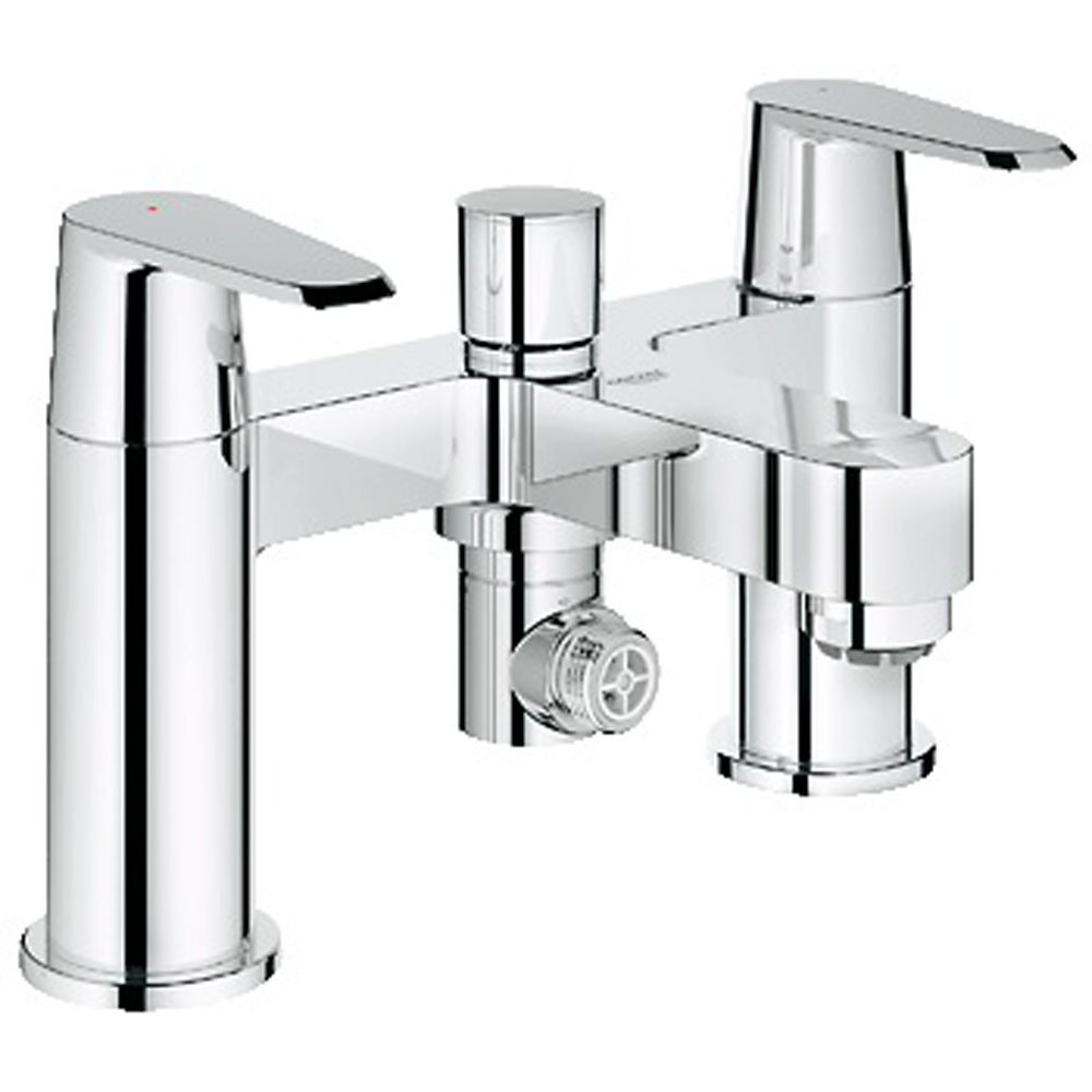 grohe eurodisc cosmopolitan chrome bridge bath shower