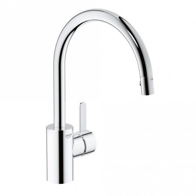Grohe Eurosmart Cosmopolitan Chrome High Spout Pullout Kitchen Sink