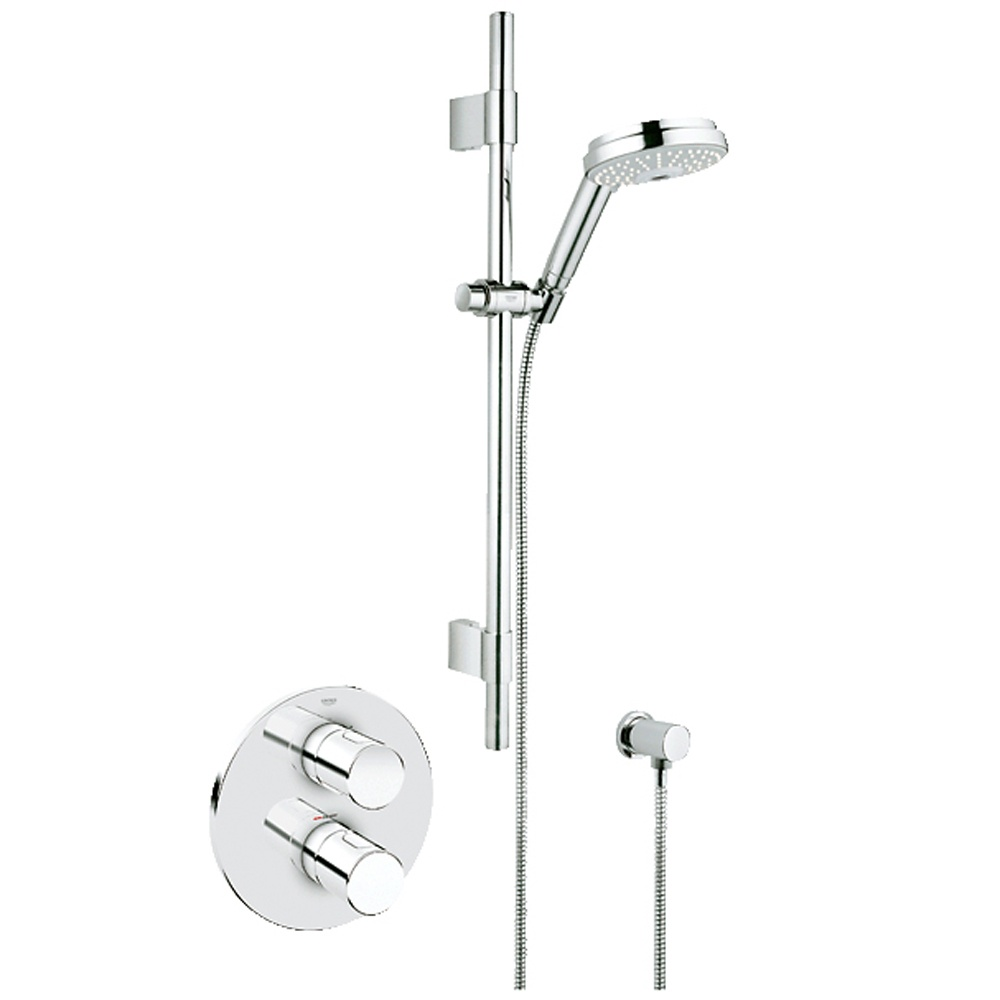 Grohe Grohtherm 3000 Cosmopolitan Chrome Thermostatic Shower Mixer Valve Amp