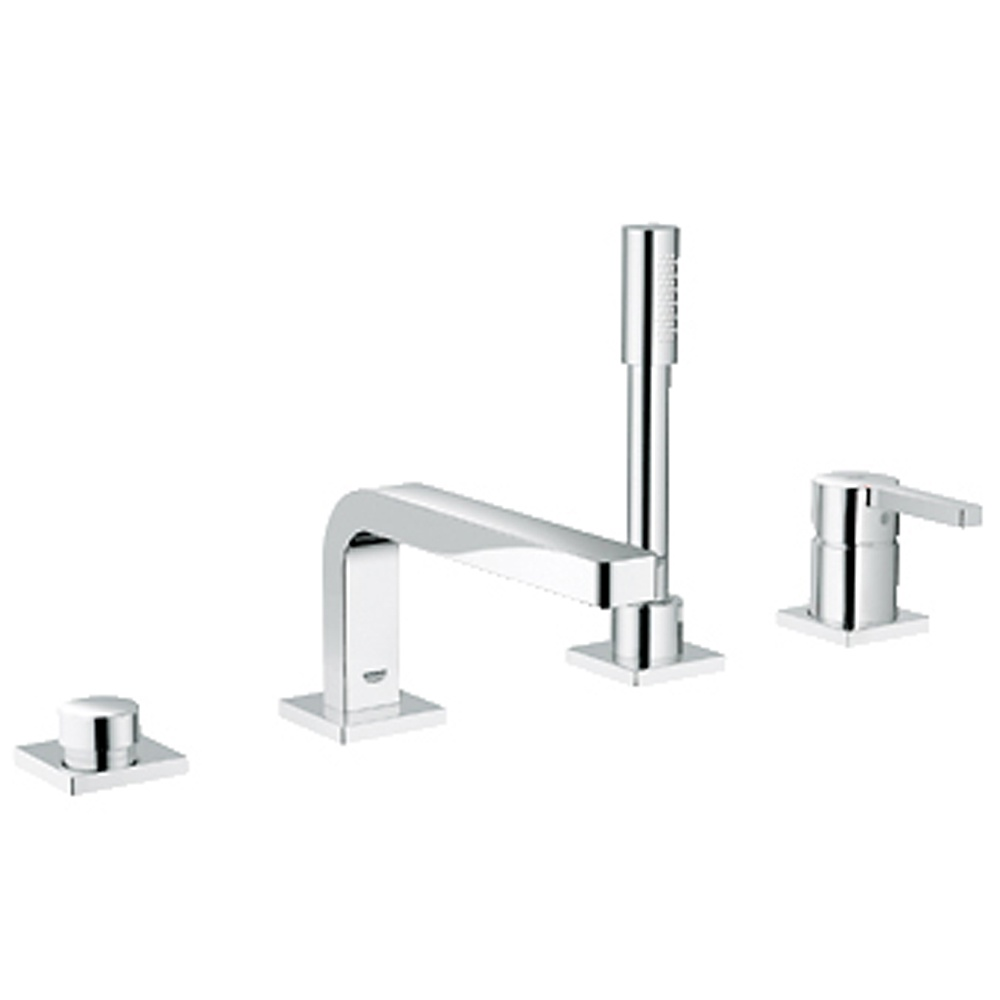 grohe lineare chrome 4 tap hole bath shower mixer tap 19577000 grohe