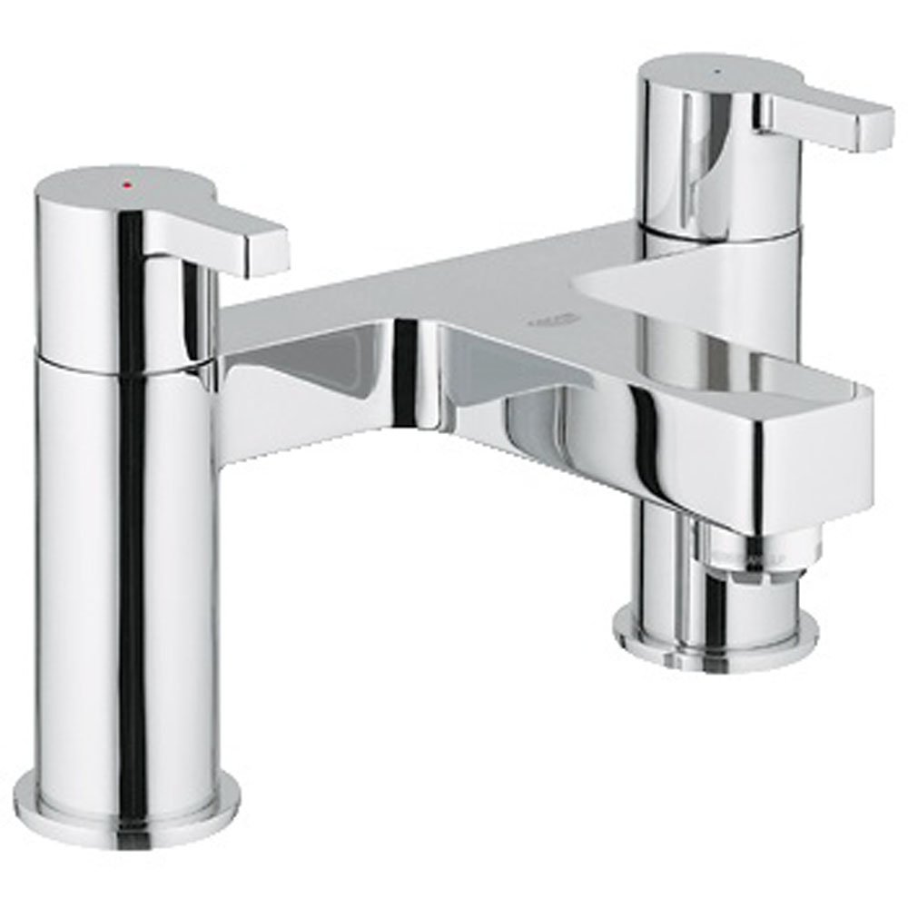 grohe lineare chrome bridge bath filler tap 25104000 grohe from taps