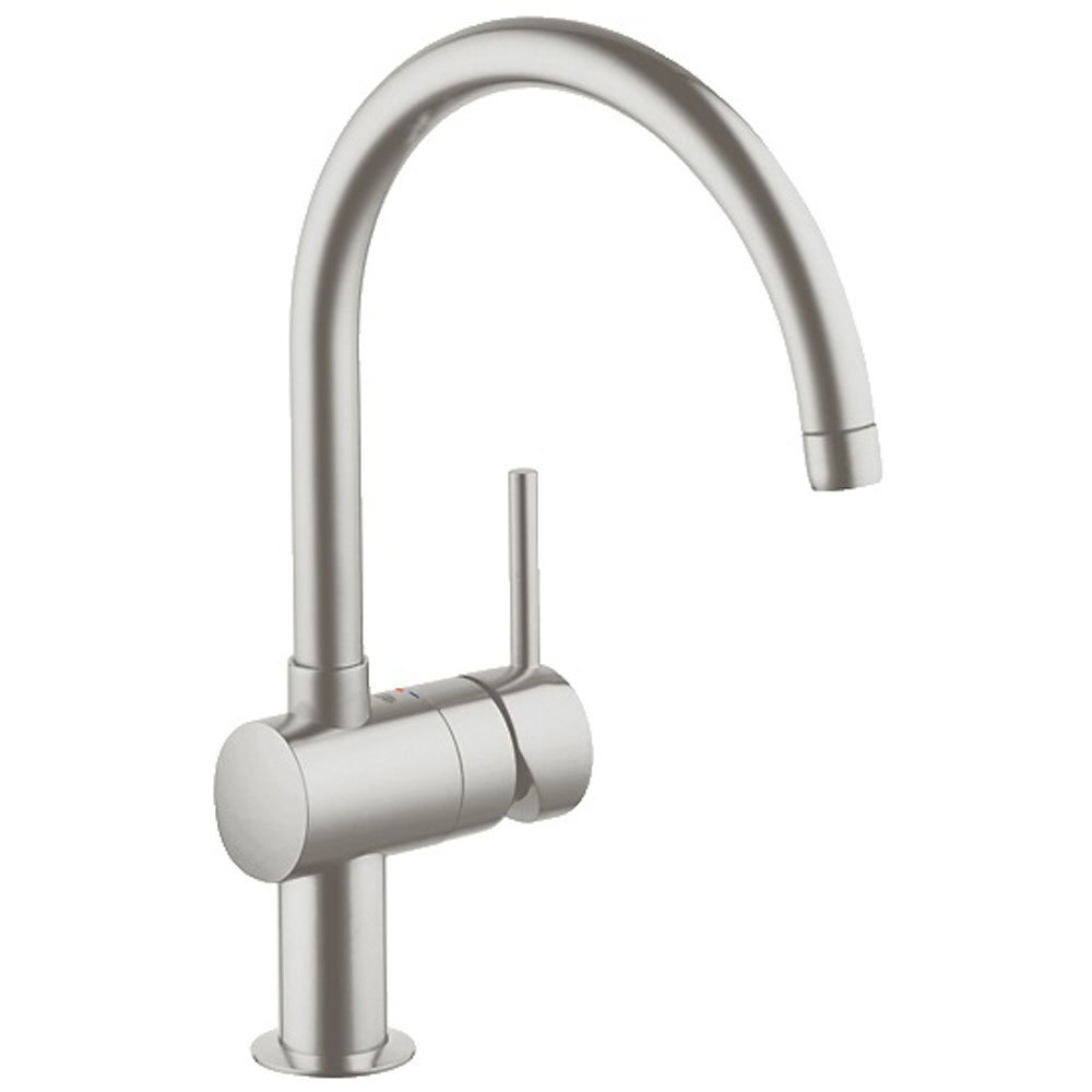 Grohe Kitchen Sink Taps Grohe Concetto Brushed Supersteel Kitchen ...