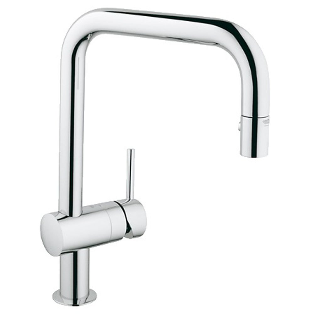Grohe Minta Chrome Kitchen Sink Mixer Tap  Grohe From - Kitchen sink taps uk