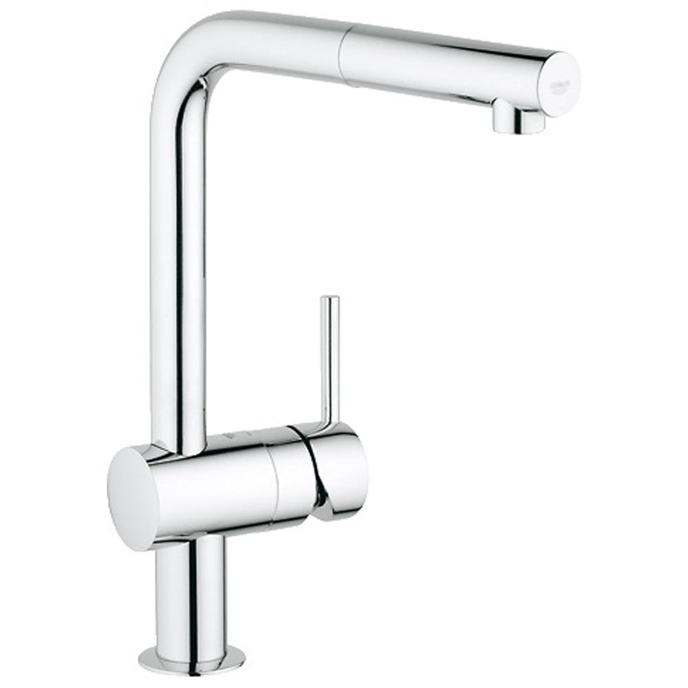 ... ? Grohe Minta Chrome Swivel Spout Kitchen Sink Mixer Tap 32168000